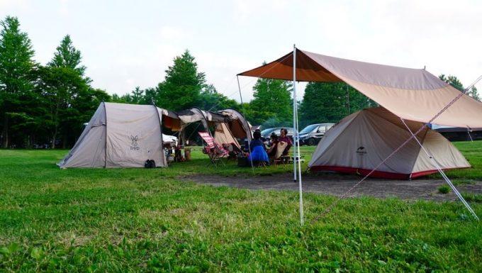 テントを広々とレイアウト