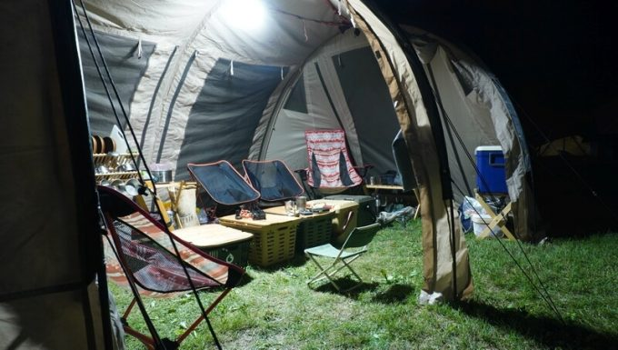 クレイモア3フェイスの明るさ 大型テント内2