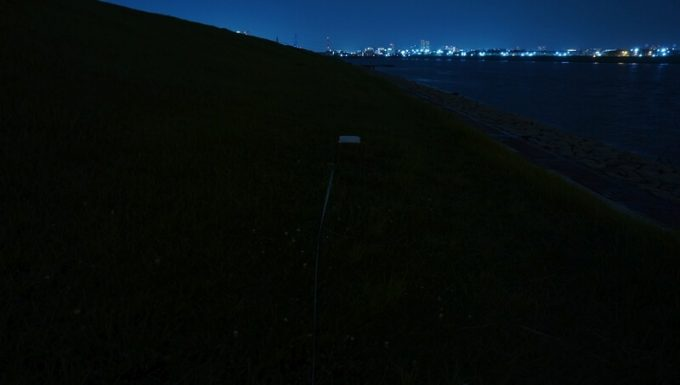 クレイモア キャップオン 40Bの明るさテスト 明かりなし