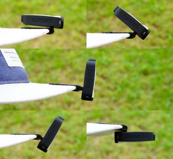 クレイモア キャップオン 40Bをキャップに付けて角度調整