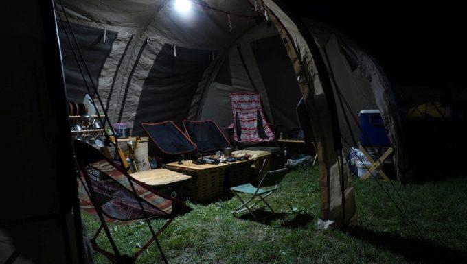 クレイモア ウルトラ ミニの明るさ 大型テント内2