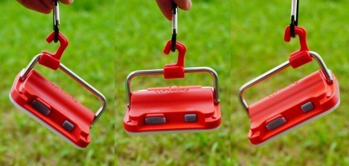クレイモア ウルトラ ミニのフックは吊るして角度調整可能 縦方向