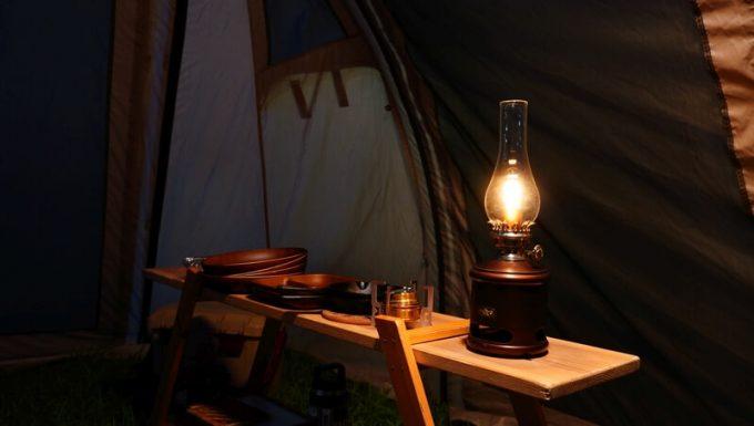 アラジン ランタンスピーカーをキャンプで使う