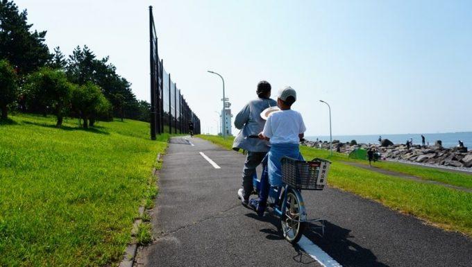 若洲公園でサイクリング