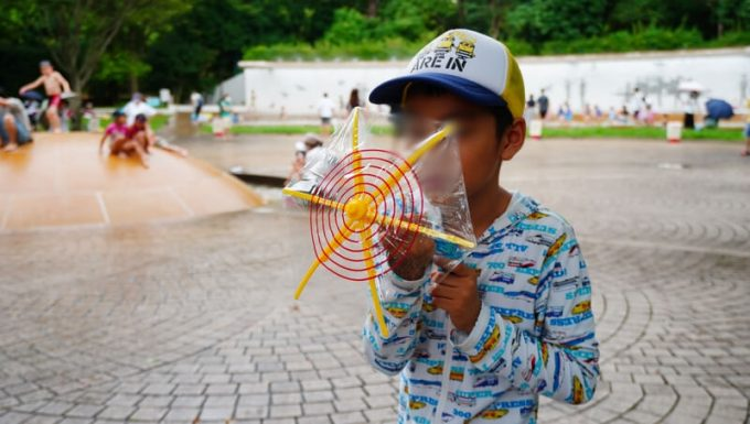 傘の水鉄砲のサイズ