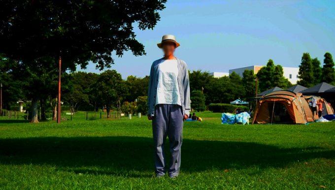 夏キャンプ女性服装日焼け対策カーディガン