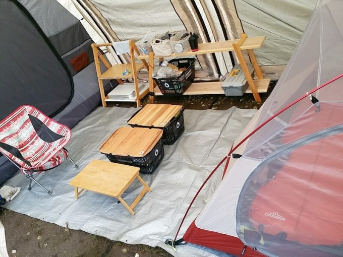 テントのお座敷スタイル