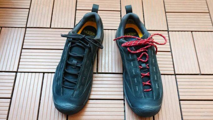 KEEN ジャスパーⅡウォータープルーフの靴紐を替える