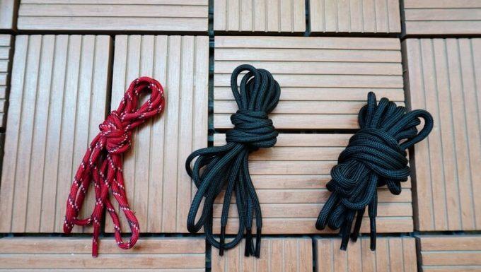 KEEN ジャスパーⅡウォータープルーフの靴紐3種類