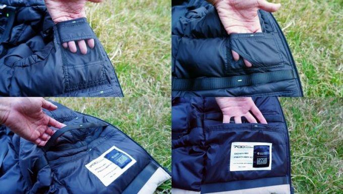 リロア ダウンジャケットの左内側ポケット