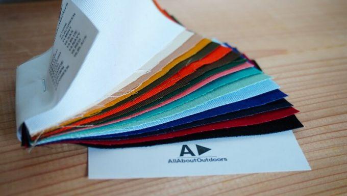オーダータープ(AllAboutOutdoors)の見本生地の色