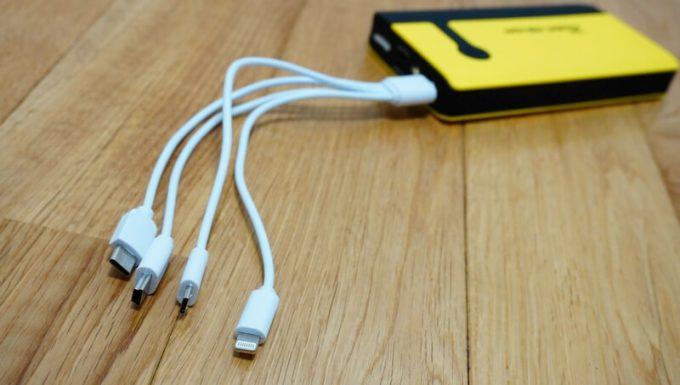 パワーローバーの4又USBケーブル