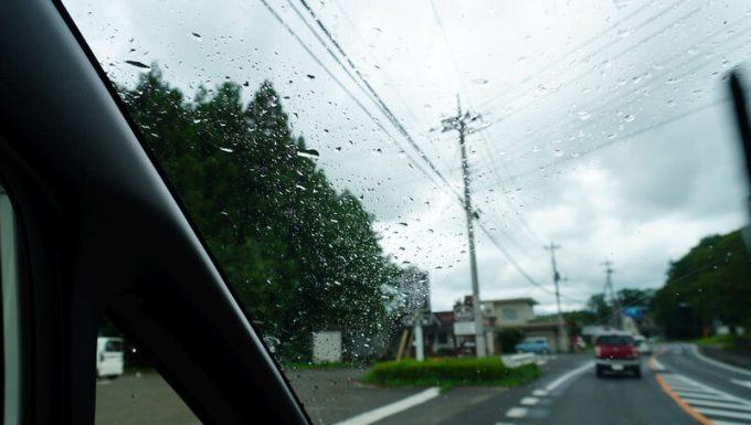撤収後に雨