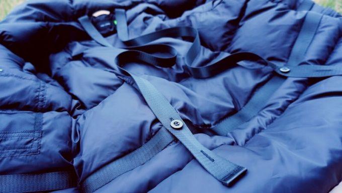 リロア ダウンジャケットのベルト