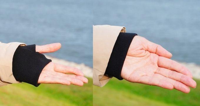 リロア ダウンジャケットの袖口