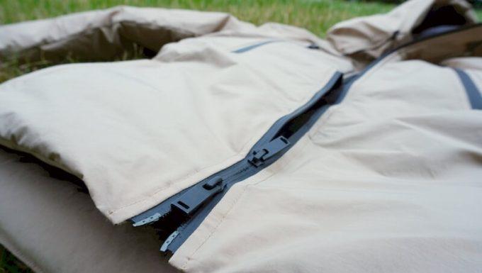 リロア ダウンジャケットのフロントジッパー