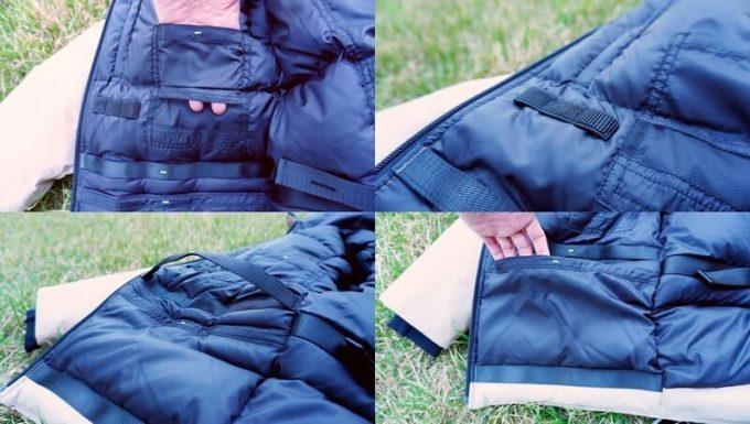 リロア ダウンジャケットの右内側ポケット