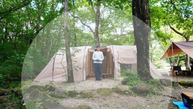 ストロンテック KA・KO・I の有効範囲 テント