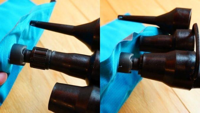 電動エアーポンプのノズルをイナーシャオゾンの適合