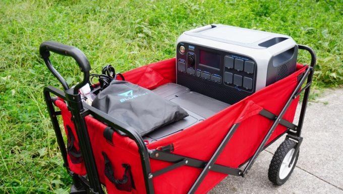 ブルーティ(BLUETTI)AC200をキャリーカートに乗せる