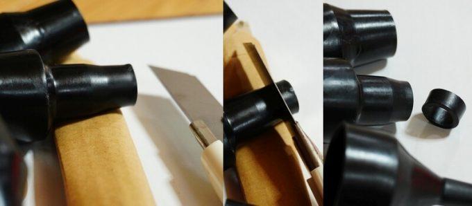 電動エアーポンプのノズルを加工する方法