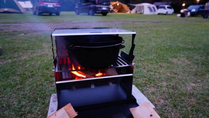 フェネック グリルでダッチオーブン調理 蓋使用