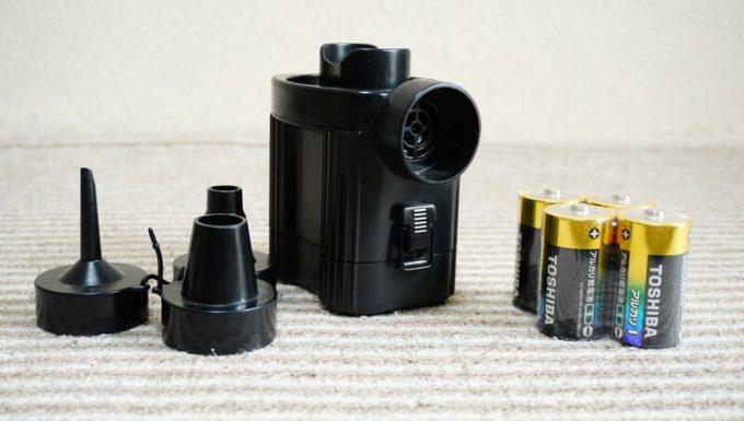 電池式の自動エアーポンプ