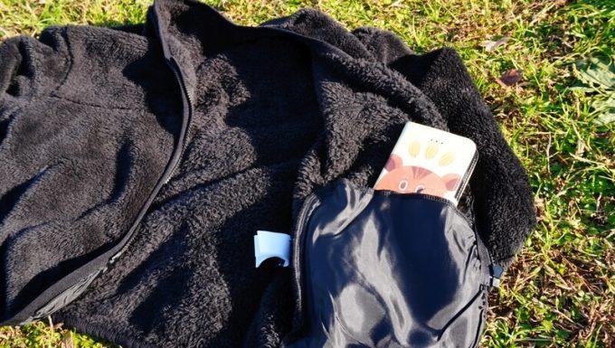 アンドミー(and Me)インナーボアブルゾン内側ポケット