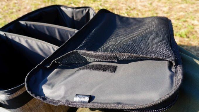 アルバートル マルチギアコンテナのフタ裏のメッシュポケット
