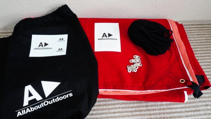 AllAboutOutdoorsのオーダータープの附属品