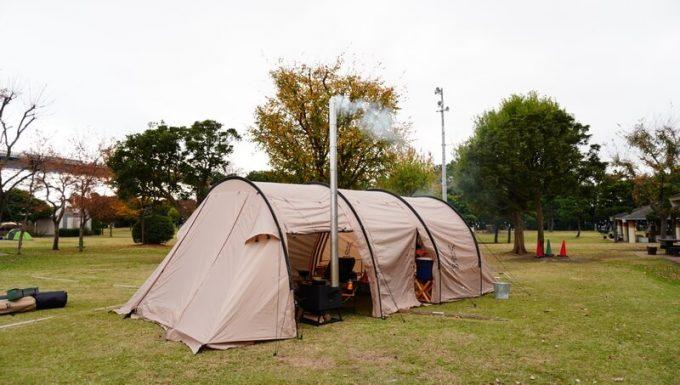 薪ストーブ BLISSとテント