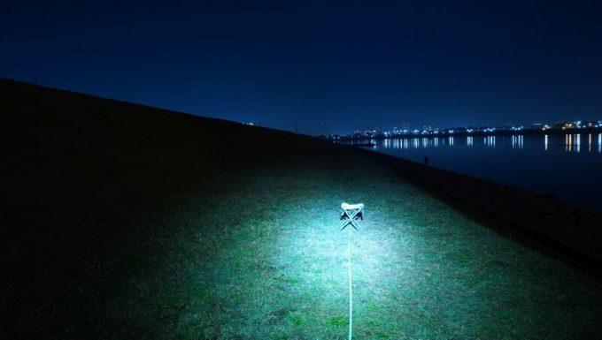 クレイモア キャップオン 120Hの明るさ 焦点ライト最大