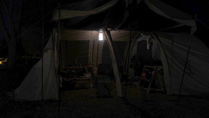 hokage 大型テント内での明るさ