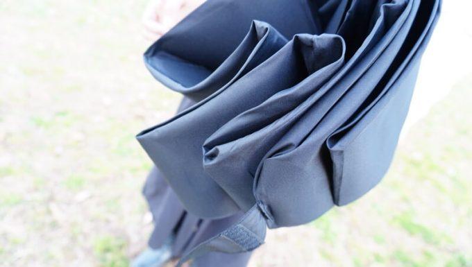 ワンタッチ折りたたみ傘(Nano Easy Fold-up)の畳やすさ 詳細