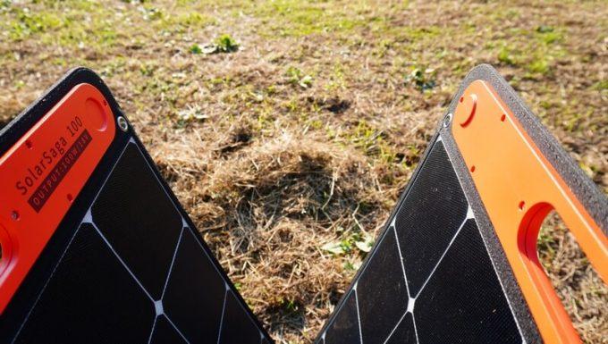 Jackeryのソーラーパネル(SolarSaga100)を開く