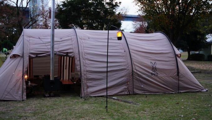 Ribitekランタンスタンドとテント