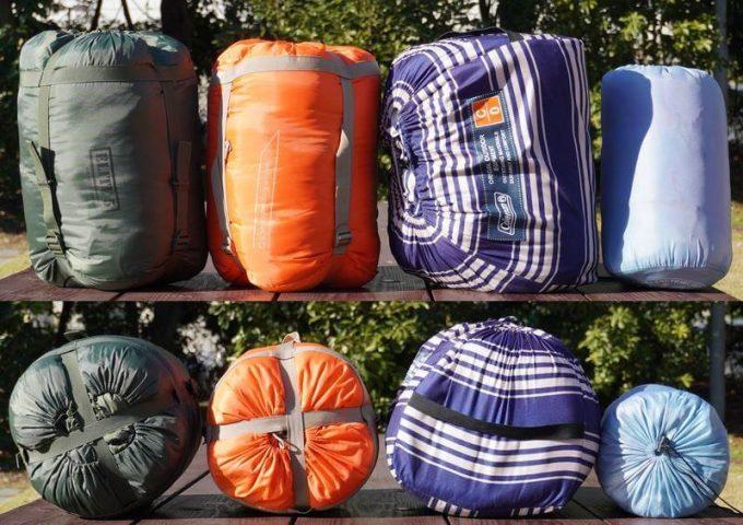 スナグパック ソフティーエリート5のサイズを他の冬用寝袋や3シーズン寝袋と比較(詳細)