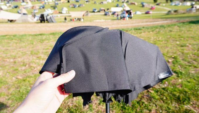 ワンタッチ折りたたみ傘(Nano Easy Fold-up)の質感 表