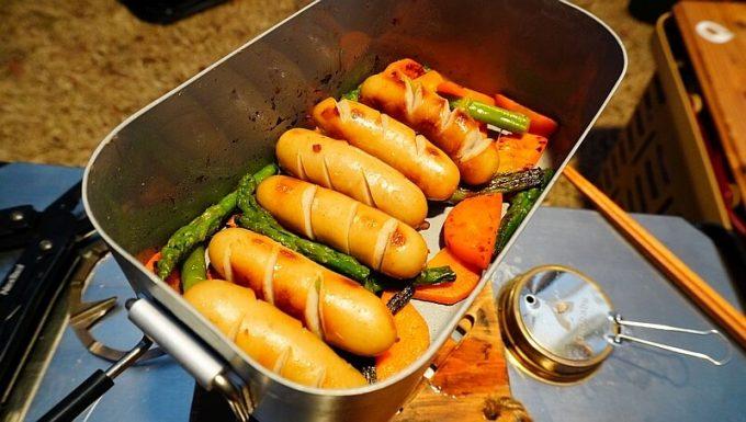 8Aガレージ スリップメステインで野菜炒め