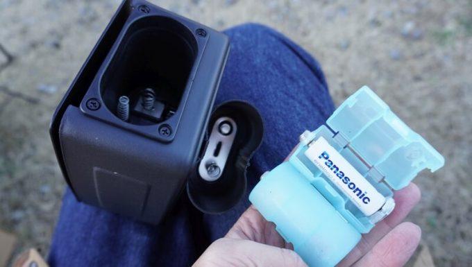 ユニバーサル ロティサリー キットで使う単一電池(単三電池をスペーサーで使う)