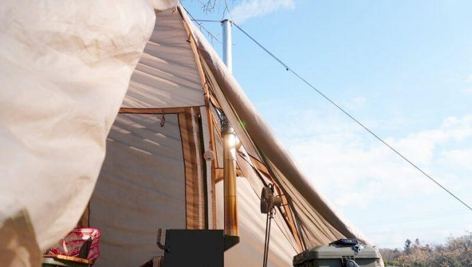 薪ストーブ(BLISS)のテントイン 断面写真
