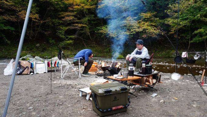 cazキャンプ場 朝食