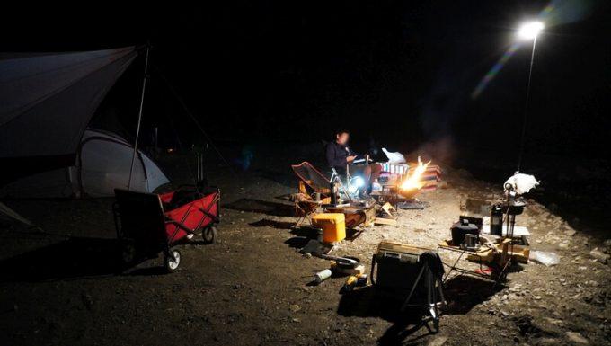 cazキャンプ場 夜の雰囲気