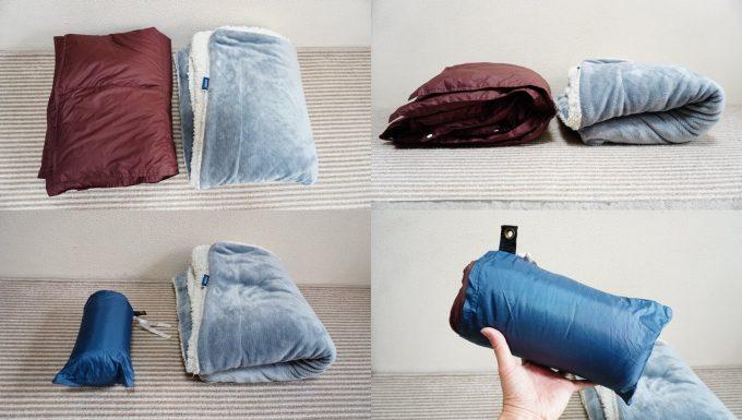 ウルトラダウンブランケットと毛布の比較