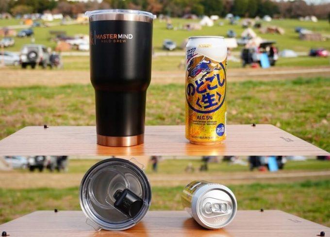 マスターマインド コールドブリュー タンプラーと500ml缶