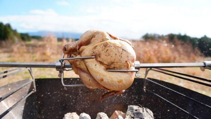 焼き初めのロティサリーチキン