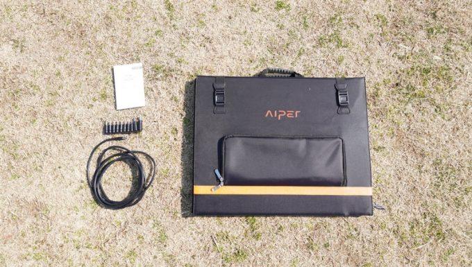 アイパー(Aiper)ソーラーパネル160W SP160の付属品