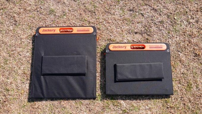 SolarSaga 60 ProとSolaSaga 100の収納サイズ比較