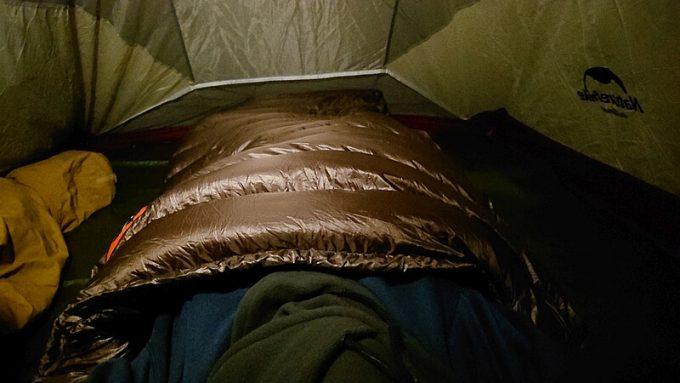 庭キャンプの寝床