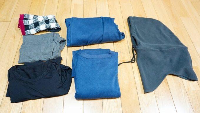 庭キャンプの衣服